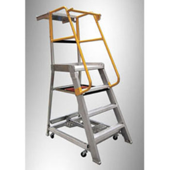 GORILLA Order Picking Ladder 200kg Industrial