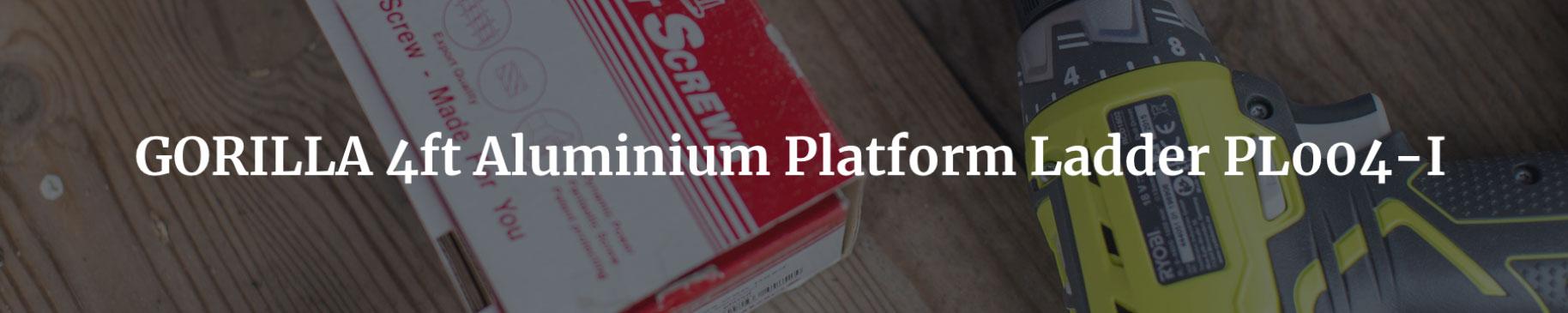 Gorilla 4ft Aluminium Platform Ladder Pl004 I
