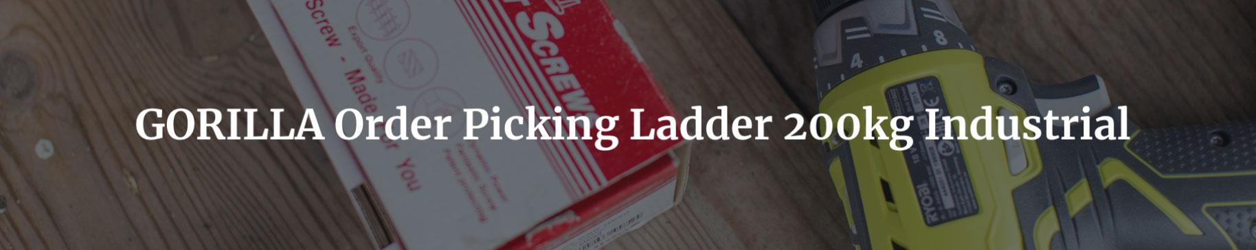 gorilla order picking ladder 200kg industrial headers