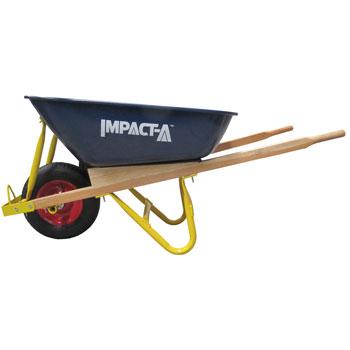 IMPACT A Wheelbarrow Metal Tub Wooden Handles 28902